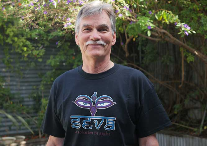 Vintage Seva Shirt - Mens Black Short Sleeve